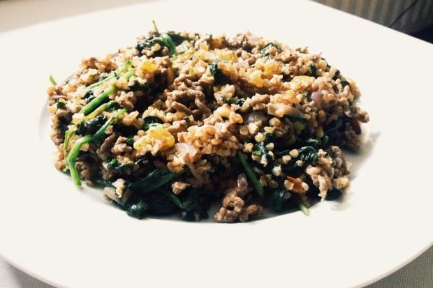 recept-pilav-gehakt-spinazie-rozijnen