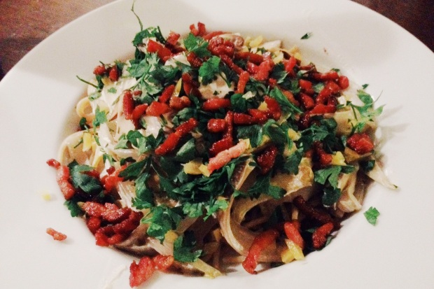 pasta-witlof-champignons-2